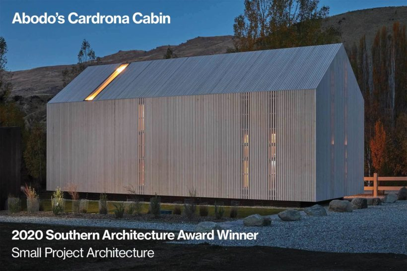 Its a WIN The Cardrona Cabin Takes Home Small Project Architecture Award Abodo Wood