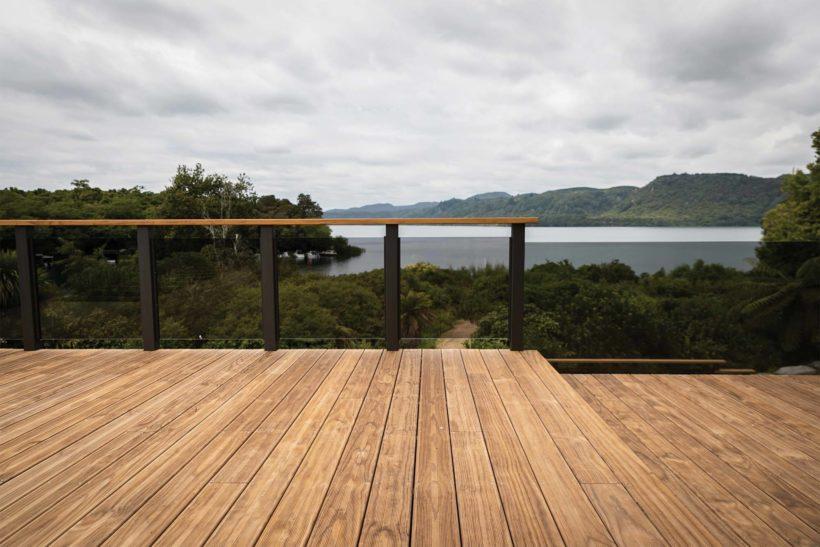 Lake Tarawera Holiday Home Vulcan Decking Abodo Wood 1