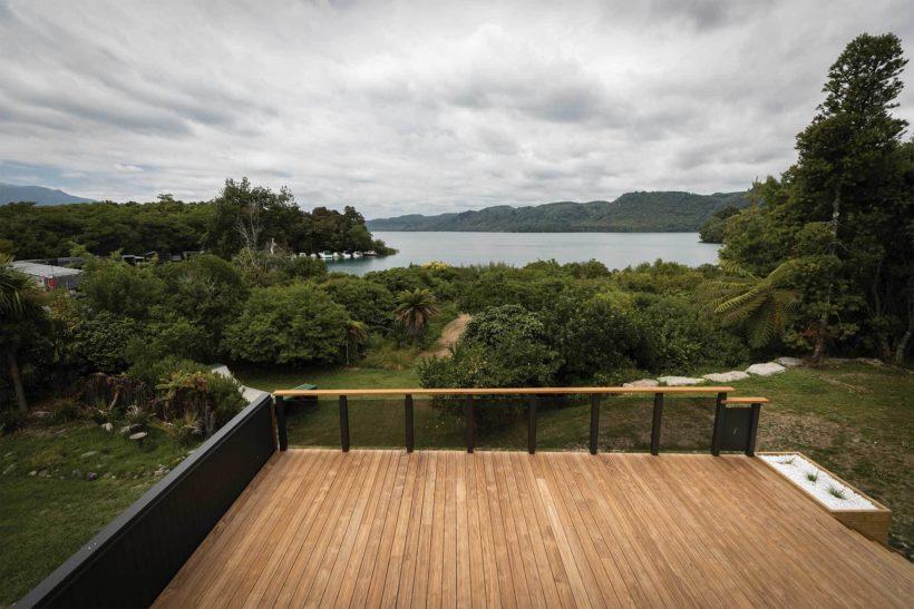 Lake Tarawera Holiday Home Vulcan Decking Abodo Wood 2