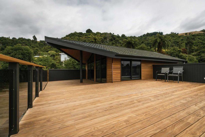 Lake Tarawera Holiday Home Vulcan Decking Abodo Wood