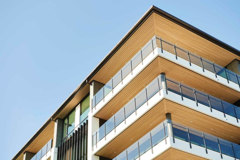 Latitude Luxury Apartments Vulcan Cladding in Sioox Abodo Wood 2