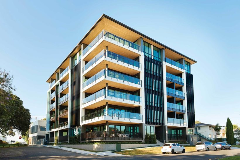 Latitude Luxury Apartments Vulcan Cladding in Sioox Abodo Wood