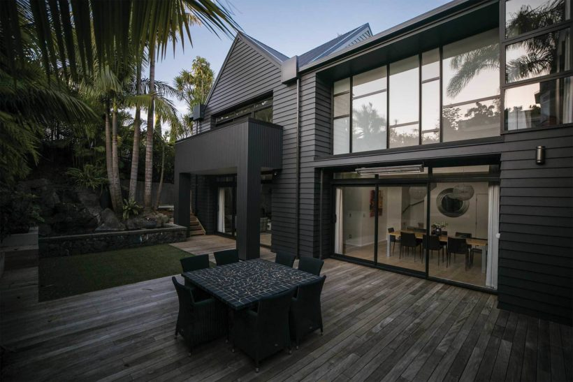Mahoe Home - Vulcan Primed Cladding - Abodo Wood