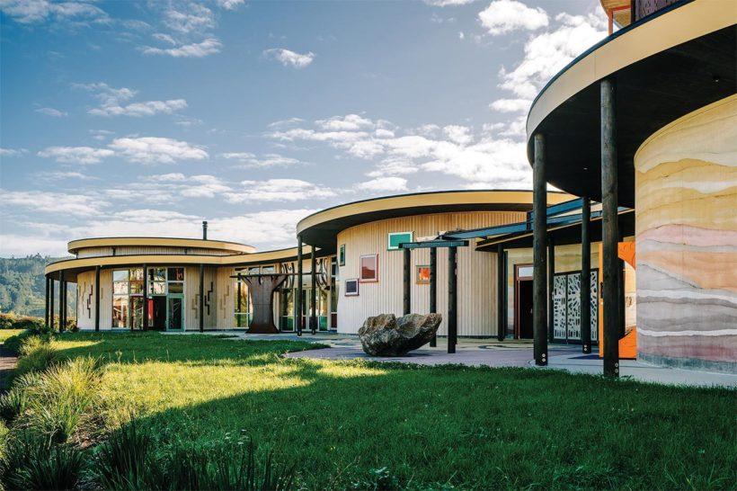 Te Hononga Hundertwasser Memorial Park Vulcan Cladding Abodo Wood 1