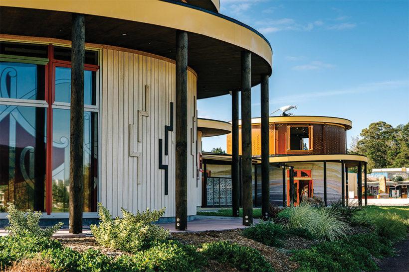 Te Hononga Hundertwasser Memorial Park Vulcan Cladding Abodo Wood