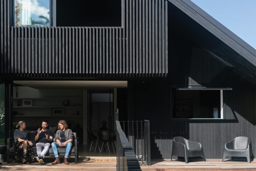 Westmere House Vulcan Cladding and Vulcan Screening Abodo Wood 2