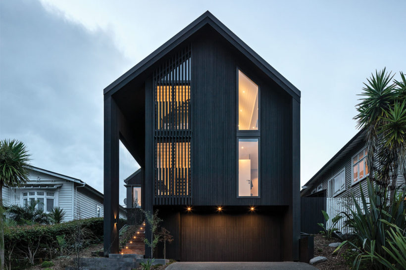 Westmere House Vulcan Cladding and Vulcan Screening Abodo Wood